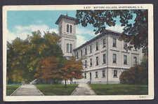 1938 Wofford College, Spartanburg, Sc