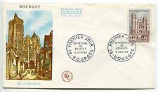 PREMIER JOUR  1965 BOURGES LA CATHEDRALE