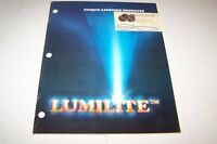 Vintage Catalog #471 - 1982 LUMILITE LIGHTING catalog