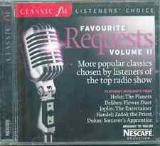 FAVOURITE REQUESTS VOL 2 - CLASSIC FM CD (2007) HOLST DELIBES JOPLIN HANDEL BACH