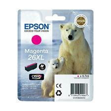 CARTOUCHE EPSON MAGENTA 26XL / 26 xl ours blanc polaire t26 t2633 rouge