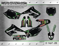 Kawasaki KX 250f KXf 2004 up to 2005 graphics decals kit Moto StyleMX