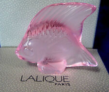 LALIQUE CRYSTAL FISH PINK #3002800 BRAND NIB OCEAN WATER FRENCH PARIS SAVE$ F/SH
