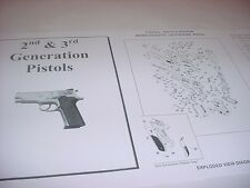 Smith & Wesson Model 410 or 439  Pistol Parts Diagram w/ Part Numbers Price List