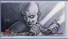 ASAJJ Topps STAR WARS CLONE WARS Widevision ANIMATOR SKETCH by BRIAN K O'CONNELL