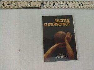 1976-77 Seattle Supersonics pocket schedule