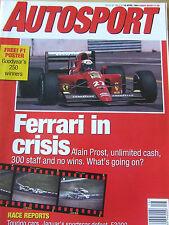 AUTOSPORT MAGAZINE APR 1991 FERRARI IN CRISIS ALAIN PROST RACE REPORTS TOURING C