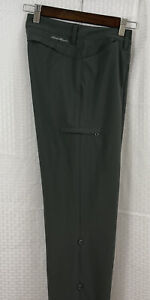 Eddie Bauer Guide/Hiking Roll Up Pants Size 2 Excellent Condition