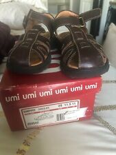 Umi Boys Sandpiper Brown Shoes  Sandals Spring Summer Size 11.5