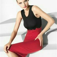 WOLFORD SPLASH SLEEVELESS BODYCON STRETCH DRESS in RARE 'CHINA' SIZE'S - S & M