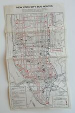 Rare Bloomingdales New York City Bus Route Map 60's