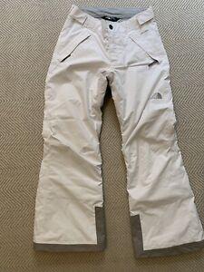 Girls White The North Face Snow/Ski Insulated pants 10-12 Medium EUC