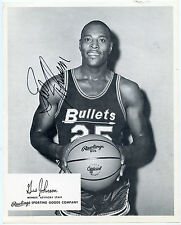 GUS JOHNSON Signed 1960's Rawlings Promo Photo Bullets HOF PSA/DNA Letter of Aut