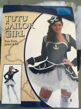 Navy Ladies Sailor Costume Fancy Dress Naval Uniform Sexy Tutu Dress NEW Small