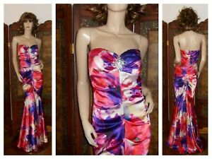Cache' Long Formal Evening Gown Strapless Mermaid Dress Rhinestone Body Con 4/6