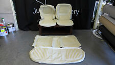 Ford XW GT GS Falcon Seat covers Off white front and back full set basketweave