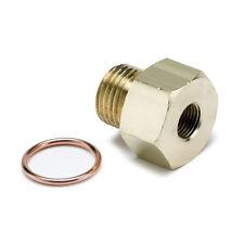 "Auto Meter Metric Adapters Oil Pressure 1/8"" NPT Female to 16mm x 1.5 Male"
