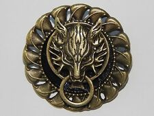 steampunk brooch badge pin wolf Harry Potter Game of Thrones Final Fantasy