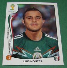 N°82 LUIS MONTES MEXICO PANINI FOOTBALL FIFA WORLD CUP BRAZIL 2014 BRASIL