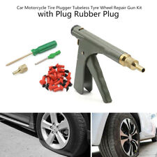 Car Motorcycle Tire Plugger Tubeless Tyre Wheel Repair Gun Inflator +Rubber Plug