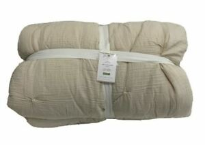 Pottery Barn Soft Cotton Handcrafted Quilt King/California King Natural NEW-$249