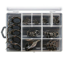 45pcs Fishing Rod Pole Guides Tips Top Eye Rings Replacement Repair with Box