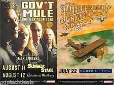 Gov't Mule Widespread Panic Jackie Greene Concert Handbill Mini-Poster Nyc 2010