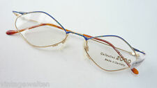 Metal Frame Women's Glasses Exceptionally Brand Small Glasses Gold Blue Size M
