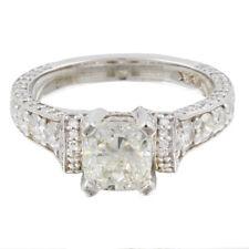 18k White Gold GIA Certified Cushion Cut Diamond Engagement Ring 2.60 Carat