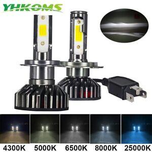 YHKOMS Mini Size Car Headlight H4 H7 LED 3000K 4300K 5000K 6500K 8000K 25000K