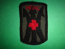 US Army 11th Light Infantry Brigade MEDIC Team Hand Sewn Subdued Patch
