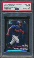 2017 Bowman Chrome Mini Prospects BCP127 Ronald Acuna Jr. 1st Bowman PSA 9 Mint