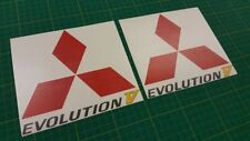 Mitsubishi Evolution Lancer Evo 5 side Spoiler panel Decals Stickers any colour