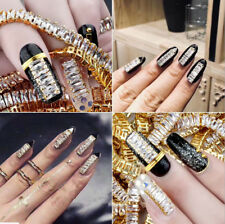 Charm Luxury Sparkling Crystal Alloy Chain Nail Art Tips Manicure Decoration
