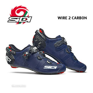Sidi WIRE 2 CARBON Road Cycling Shoes : MATTE BLUE/BLACK - NEW in BOX!