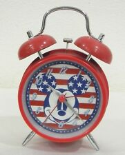 Disney Mickey Mouse USA Flag Quartz Alarm Clock, Works!!