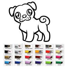 Cute Pug Puppy Dog Vinyl Decal Sticker Wall Laptop iPhone Window Car Bumper Door
