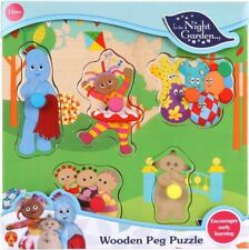 NEW In The Night Garden Wooden Peg Puzzle