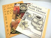 HONEY RECIPES 3 COOKBOOK LOT Old Favorite Cooking With Beekeeper's Best Natural