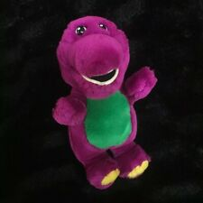 "Vintage Plush Barney 7"" Purple Dinosaur Stuffes Animal Lyons Golden Bear"