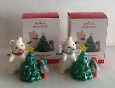 "2015 Hallmark ~""Snowball & Tuxedo""~ 2 Ornaments Repaint & 15th Anniversary ~ NWT"