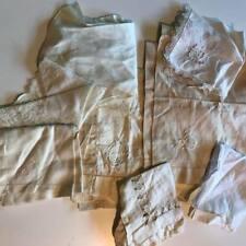 Over 30 pcs Lot Antique Linens Table Doilies Crochet Hankies Lace Pillowcases