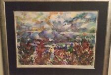 """Laurie H. Phelps """"The Hondo River Valley"""" Watercolor.  Taos, New Mexico Artist"""