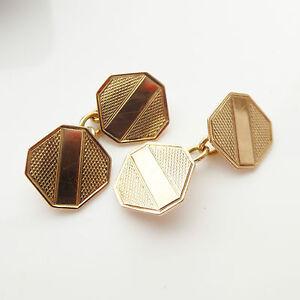 Original Antique Art Deco Cufflinks 9CT Yellow Gold Hallmarked Birmingham 1929