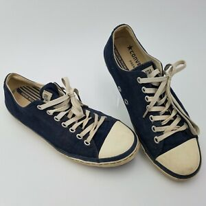 ALL STAR Converse Shoes Blue Canvas Retro Bowling Sneakers US 10