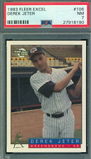 PSA 7 NM DEREK JETER ROOKIE 1993 FLEER EXCEL 106 NEAR MINT GREENSBORO RC V-TPHLC