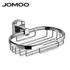 JOMOO Box Storage Brass Alloy Chrome Bathroom Soap Dish Case Holder Container