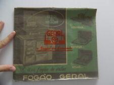 1939 GERAL Stove Range Catalog Companhia Geral de Industrias Brazil Vintage BIG