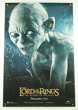 Lotr Lord of Rings Return of King Gollum 1sh Ds double-sided theater poster 2003