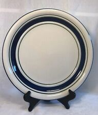Country Crock Stoneware Dinner Plate Tienshan Blue Green Bands